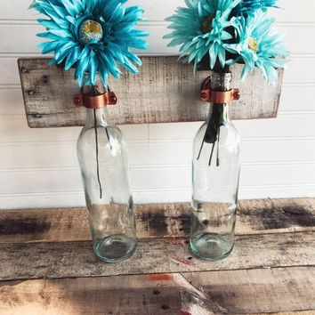 Shabby Chic Wine Bottle Wall Sconce