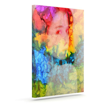 """Claire Day """"Clairefied"""" Rainbow Paint Canvas Art"""