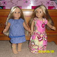 PDF Doll Clothes Sewing Pattern for the 18 inch Doll   Easy Directions   Made for the younger child to be able to handle.