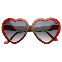 Translucent Valentines Sweet Heart Shape Lolita Party Sunglasses 8448