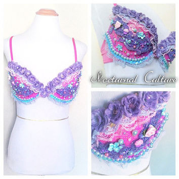 Unicorn Rave Bra