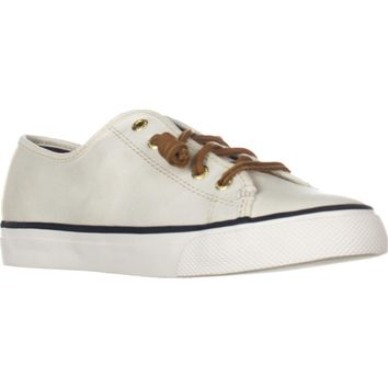Sperry Top-Sider Seacoast Fashion Sneakers, Ivory, 5 US / 35 EU
