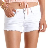 Refuge Colored Denim Short: Charlotte Russe