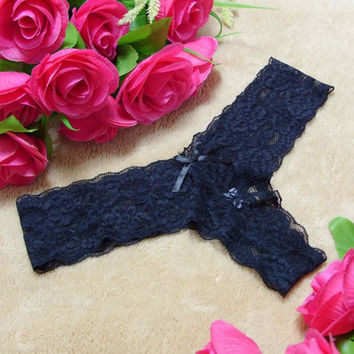 Women Sexy Panties Lace G string Knickers Lingerie Underwear Thongs  SM6