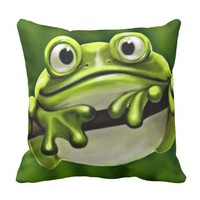 Adorable Funny Cute Green Frog In Tree