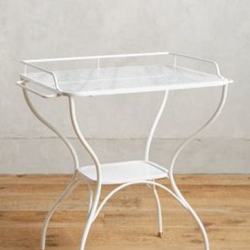 Marble-Topped Bar Table by Anthropologie