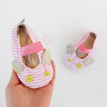 Baby colorful shoes | Baby girl non slip soft sole indoor shoes | girl ballerinas with mouse ears | 12 months nature baby shower | Flowers