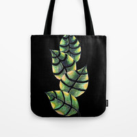 Viper Leaves Tote Bag by ES Creative Designs