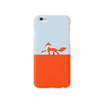 iPhone 5 case, iPhone 5s case - Fox walk -  iPhone 5s case, iPhone 6s case, iPhone 6s PLUS case, Good Luck Gold Sticker, non-glossy C08