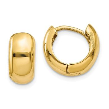 14k Gold 7 mm Hinged Hoop Earrings
