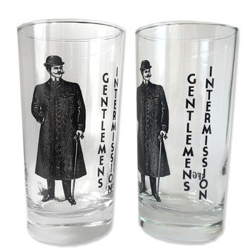 12 oz. Drinking Glasses Gentlemen