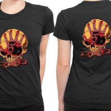 ICIK7H3 Five Finger Death Punch Render 2 Sided Womens T Shirt