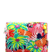 Lily Inspired Zebra Print Large Cosmetic Bag