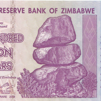 500 Million Dollar Zimbabwe Banknote 10X