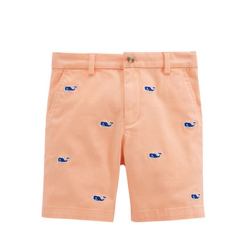 Boys Embroidered Stretch Breaker Shorts