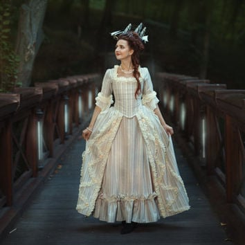 Free shipping marie antoinette 18th from dressartmystery for 18th century wedding dress