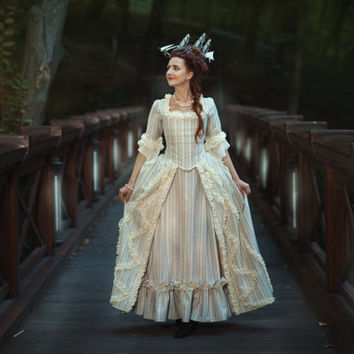 FREE SHIPPING Marie Antoinette 18th Century dress  Baroque Georgian gown rococo wedding costume