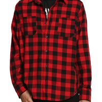 RUDE Red & Black Buffalo Check Woven