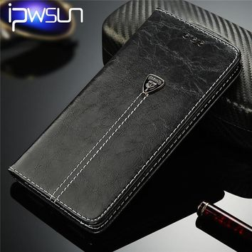 iPWSOO Wallet Case For Samsung Galaxy S6 S6Edge Plus S7 S7Edge Luxury Leather Magnet Card Holder Flip Stand Phone Case Cover