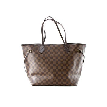 Tagre™ Authentic Louis Vuitton Neverfull MM Damier Ebene tote bag N51105