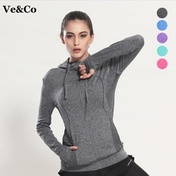 Sudaderas Mujer 2017 Autumn Women's Yoga Shirts Long Sleeve Yoga Tops Sportswear Fitness Quick Dry Breathable Tracksuit Women