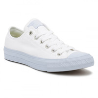 Converse All Star Chuck Taylor II Womens Ox White/Porpoise Trainers