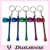 Multi Aluminum Tobacco Pipe Fashion Keychains Metal Pipes