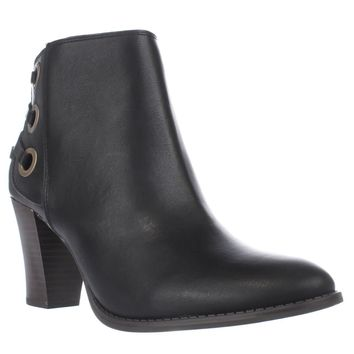 I35 Jesaa Lace Accent Ankle Boots, Black, 7 US