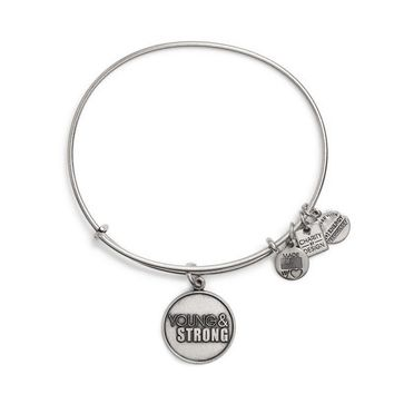 Alex and Ani Young And Strong Charm Bangle - Russian Silver