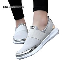 Brand mesh breathable Summer shoes women loafers Slip on casual Shoes ultralight flats shoes shoes size35-42