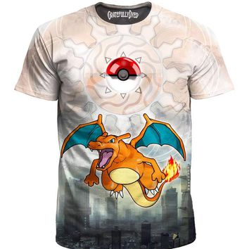 """A Wild Charizard Appeared"" Tee Shirt"