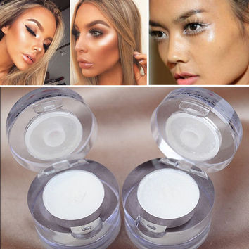 2017 Professional 2 in 1 White Single Eyeshadow Waterproof Long Lasting Shimmer Face Highlighter Contour Makeup Free Shipping