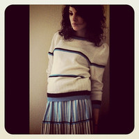 Vintage Blue Jenni Sport Skirt/ Sweater set