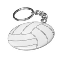 Volleyball Keychain (Key Ring)