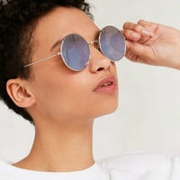 Daisy Round Metal Sunglasses - Urban Outfitters