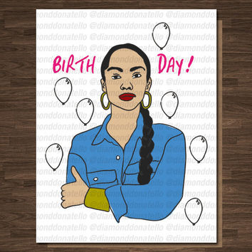 Funny Birthday card, Sade, Birthday Card for her, Birthday card for mom, Birthday card for Day, Soul, Unique birthday card, pop culture