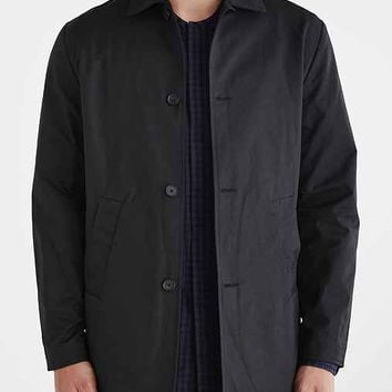 Wood Wood Oxford Trench Coat- Black