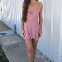 Nicole Button Up Playsuit