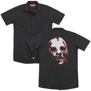 American Horror Story - Bloody Face (Back Print) Adult Work Shirt