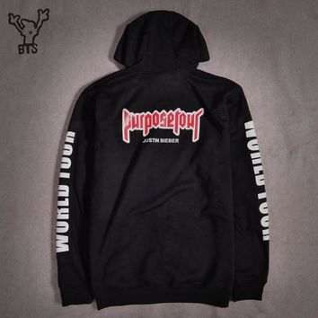 BTS Justin Bieber Purpose Tour New Brand Sweatshirt Hoodies Fashion Men/women Hoodies and Sweatshirts Clothes 4xl casual outwear