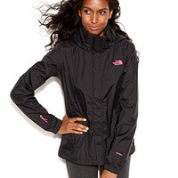 The North Face Jacket, Resolve Pink Ribbon Zip-Up Raincoat - Juniors Coats - Macy's