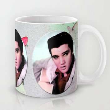 young Elvis Presley digital photo art.  the king of music, rock 'n' roll.  Mug by PatternWorld