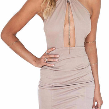 Jamie Keyhole Bandage Mini Dress