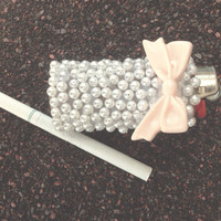 Pearled Lighter by MarysaMychole on Etsy