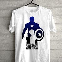captain america art Screen print Funny shirt for t shirt mens and t shirt girl size s, m, l, xl, xxl