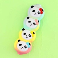 Rainbow Panda Pea Squishy