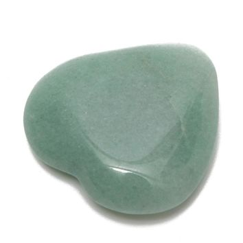Exquisite Heart Shape Natural Jade Gemstone Green Aventurine Jade Healing Stone Crystal for DIY Pendants Jewelry Making 30-35mm