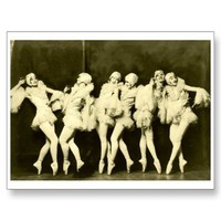 Retro Vintage Beautiful Dancing Women Ballet Dance Post Cards from Zazzle.com