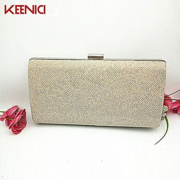 KEENICI Evening Bag With Diamond Women's Rhinestone Banquet Handbag Day Clutch Female Crystal Box Wedding Bridal Handbags Chain