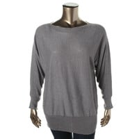 Alfani Womens Plus Knit Dolman Sleeves Pullover Sweater